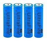 4x UltraFire Akku 18650 3.7V 3000mAH - Li-ion...