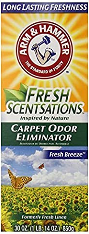 Arm & Hammer Fresh Scentsations Carpet Odor Eliminator, Fresh Breeze, 30 Ounce (Pack of 6) by Arm & Hammer
