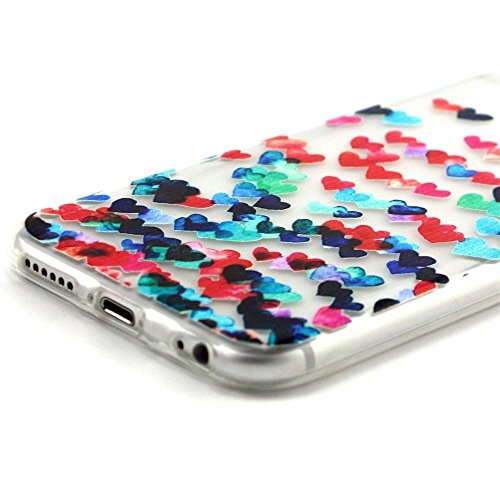 iPhone 5S Case,iPhone 5 Cover - Felfy Apple iPhone 5/5S Ultra Slim Dünnen Weiche Soft Gel romantisch Mond Lichter Liebhaber Muster TPU Silikon Back Bumper Hülle Zurück Tasche Etui Protective + 1x Schw MultiColored Liebes Herz