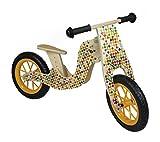 Hess Holzspielzeug 31181 - Laufrad Bike bunt, höhenverstellbarer Sitz