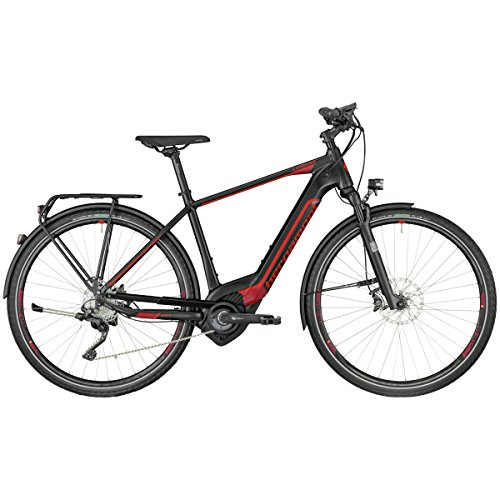 Bergamont E-Horizon Elite Herren Pedelec Elektro Trekking Fahrrad schwarz/rot 2018: Größe: 48cm (164-170cm)