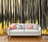 Pared Papel 3D Autoadhesivo Papel Pintado Golden Streamer Personalidad Creativa Dinámica Pintada A Mano. Dormitorio Sala Tv Decorativo De Pared