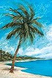 Cartera Lienzo Decor Paradise Palms por Michael Saunders Pared Arte, 24x 36'