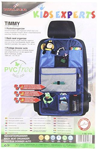Walser 30696 Organizer per bambini, portaoggetti per schienale sedile anteriore, organizer schienale Timmy blu