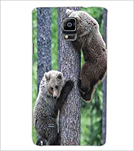 SAMSUNG GALAXY NOTE 4 CUTE ANIMALS Designer Back Cover Case By PRINTSWAG