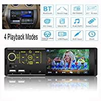 Car Multimedia Player, Bluetooth Car Stereo, Car Radio Player, Hd Car Radio, Support Mp5, USB/Tf Interface, FM, Bluetooth, Touch capacitive screen, With Remote Control, 7 LED Colors, Reverse image