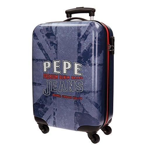 Pepe Jeans Dales Jr Equipaje de Mano, 55 cm, 35 Litros, Azul