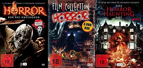 20 Horrorfilme HALLOWEEN Box Collection incl. HORROR MASKE - 30 Stunden Werwölfe ZOMBIES Dämonen VAMPIRE Hexen DVD Collection (Maske Halloween Psycho)