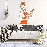 Salone di bellezza Parrucchiere Decorazione murale Vinile Decorazione murale Carta da parati design spa Poster staccabile impermeabile L 42 * 62cm