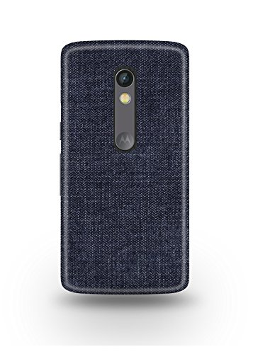 Moto X Play Cover,Moto X Play Case,Moto X Play Back Cover,Dark Blue Jeans Moto X Play Mobile Cover By The Shopmetro-12230