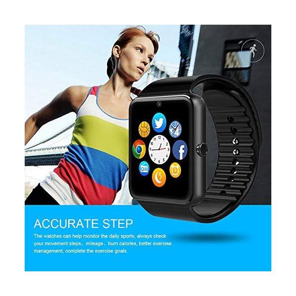 Reloj Inteligente, Smartwatch Bluetooth y Ranura para Tarjeta SIM con Rastreador de Actividad, Podómetro, Cronómetros Reloj de Fitness, Reloj Iinteligente Hombre Mujer niños Android/iOS Phone 13