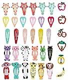 XCOZU 36 Stück Haarspangen Mädchen, Cartoon Kleine Metallspangen Haarclips Haar Zubehör für Babys Kleine Mädchen Kleinkinder Kinder