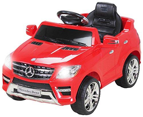 Kinder Elektroauto Mercedes ML 350 Original Lizenz Auto 2X 25 Watt Motor Kinderauto Kinderfahrzeug Elektroauto (Rot)