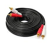 10 m / 33 pies de doble rca de cable av de audio y vdeo rca para hdtv dvd