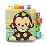 TOYMYTOY Stoffbuch Baby Tier Bilderbuch Pädagogische Spielbuch Kleinkinder Lernen Spielzeug (Affe)