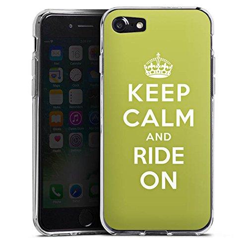 Apple iPhone X Silikon Hülle Case Schutzhülle Keep Calm Urlaub Statement Silikon Case transparent