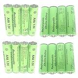 Lopbinte 8 Piezas 1.5V AA 3000Mah BateríA Alcalina Recargable + 8 Piezas 1.5V AAA 2100Mah BateríA Alcalina para Juguete De Luz Led Mp3