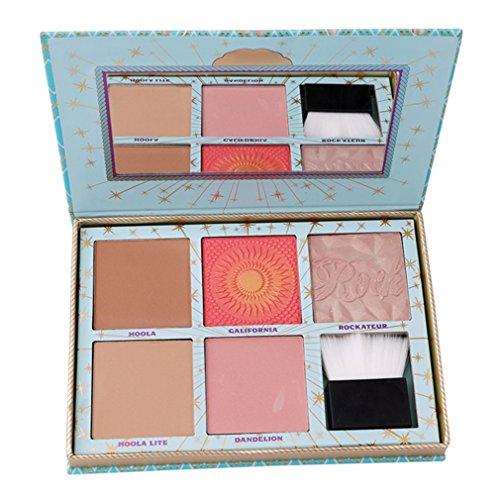 Preisvergleich Produktbild Stayeal Highlighter Palette Kosmetik Palette 5 Farben Rouge Schminkpalette mit Pulver Pinsel