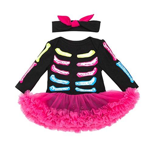 Anguang Halloween Kürbis Kostüm kinderkostüme Baby Mädchen Jungs Strampler Body + Hut Outfits Kleider Set Als Bild 59 (Skelett-kostüm Für Baby)