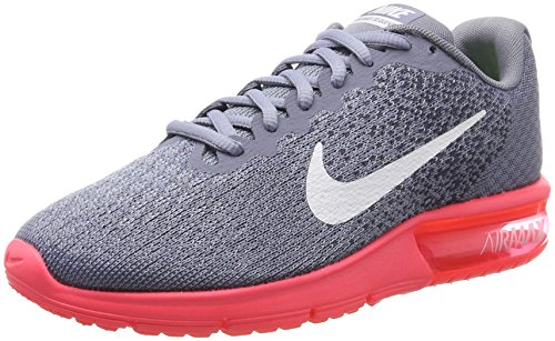 Nike Damen Air Max Sequent 2 Laufschuhe, Grau (Dark Sky Blue/White-Solar Red-Thunder Blue), 40.5 EU