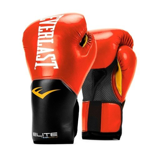 Everlast Elite Pro Style Training Boxing Gloves (14oz, Red)