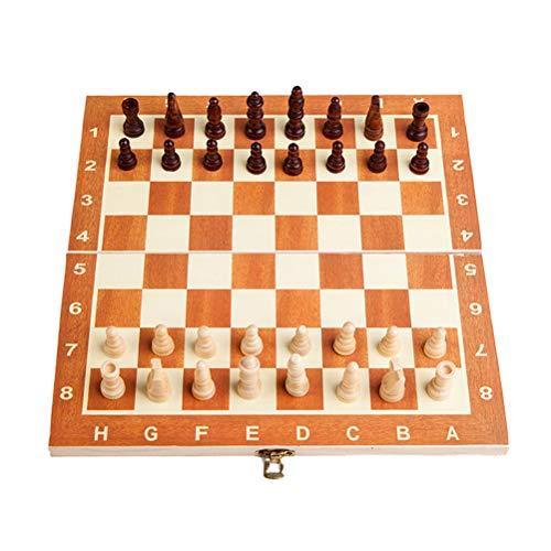 VORCOOL Holz Schach Falten Entwürfe Set Familie Brettspiel -