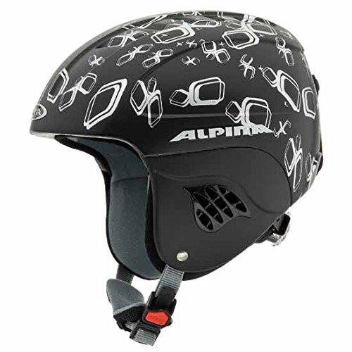 Alpina Kinder Skihelm Carat die, schwarz-silber matt, 48-52
