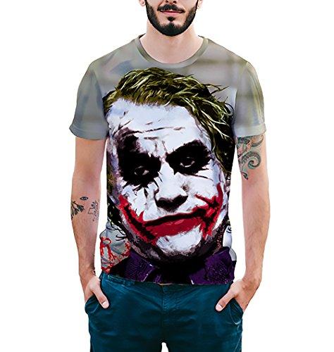 Camisetas Verano Hombre Basicas Joven Moda Horror Divertidas Joker Estampadas Manga Corta Cuello Redondo T-Shirt