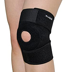 Seagull Knee Support - Highest Quality Neoprene Knee Brace for Men and Women - Ideal for ALC, PLC, LCL, MCL, Arthritis, Osteoarthritis, Tendonitis, Meniscus Tear - Best for Pain Relief - Quicker Recovery - Patella Stabilizer - Excellent for Running, Walking, Training - Non Slip - Truly Breathable - Fully Adjustable - Fast Result and Satisfaction Guarantee