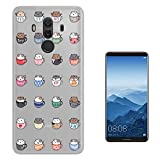 "c01728 - Kawaii Cute Cats In Mugs Colourful Animals Design Huawei Mate 10 Pro 6"" Fashion Trend Case Gel Rubber Silicone All Edges Protection Case Cover"
