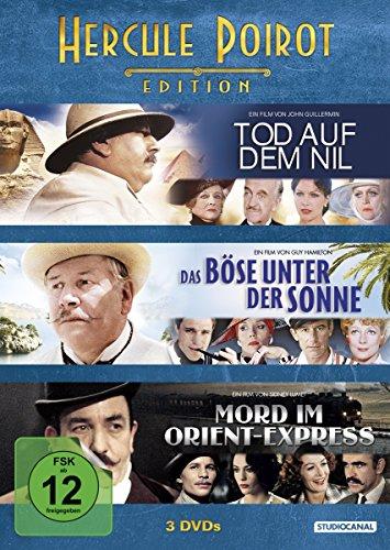 Bild von Hercule Poirot Edition:Tod auf dem Nil / Das Böse unter der Sonne / Mord im Orient Express [3 DVDs]
