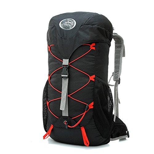 Diamond Candy Zaino da Trekking Outdoor Donna e Uomo con Protezione Impermeabile per alpinismo arrampicata equitazione ad Alta Capacit¨¤ borsa da viaggio,Multifunzione, 35 litri Nero Nero