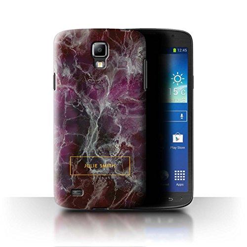 8468dd2dc9d Stuff4 Personnalisé Marbre Personnalisé Coque pour Samsung Galaxy S4  Active/I9295 / Cachet Violet &