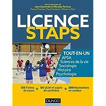 Licence STAPS Tout en Un - 120 fiches de cours, 60 QCM et sujets de synthèse