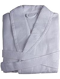 Albornoces de baño tejidos en Nido de Abeja de Algodón - ENVÍO GRATUITO - Todas las tallas - Fabricado en España (Talla XL)