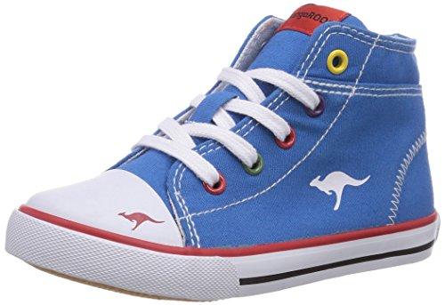 KangaROOS KangaVulcInfant 2036, Baby Jungen Lauflernschuhe, Blau (royal blue multi 409), 24 EU (Canvas Schuhe Multi)