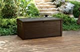 GARDEN STORAGE BENCH BOX LARGE 454L KETER RESIN FURNITURE LOCKABLE WATERPROOF