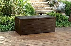 Garden Storage Bench Box Large 454l Keter Resin Furniture Lockable Waterproof