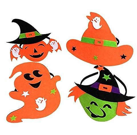 jovono Headbands Kürbis Hexen Hat Haarband für Frauen Kinder auf Halloween Party Kostüm (Baby-kürbis-kostüm Uk)