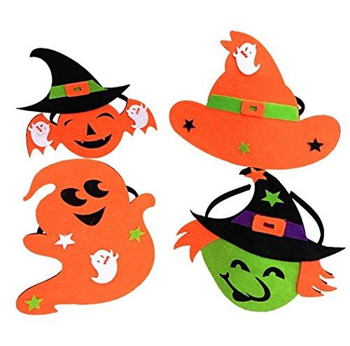 jovono Headbands Kürbis Hexen Hat Haarband für Frauen Kinder auf Halloween Party Kostüm (Zwei Zweite Halloween Kostüme)