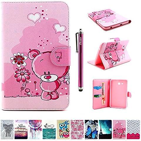 Custodia per Samsung Galaxy Tab 3 Lite 7.0 (T110/T111), DEENOR Cute Colorful Design Flip Case PU Leather Cover Stand Custodia per Samsung Galaxy Tab 3 Lite 7.0 (T110/T111). A09