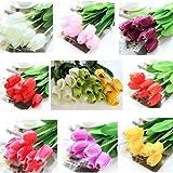 10 Bouquet artificiale del tulipano fiori di seta del partito della casa Decor
