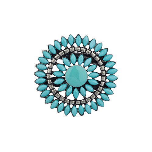 lux-accessoires-bleute-sun-star-floral-perles-broche-clip