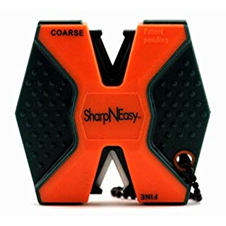 Accusharp Sharp-N-Easy Affûteur de couteau antidérapant, Orange