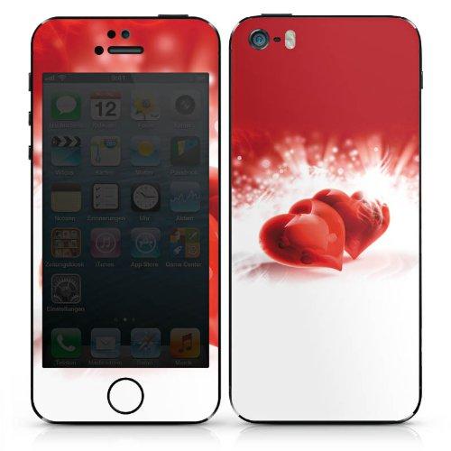 Apple iPhone 6 Case Skin Sticker aus Vinyl-Folie Aufkleber Herz Liebe Rot DesignSkins® glänzend