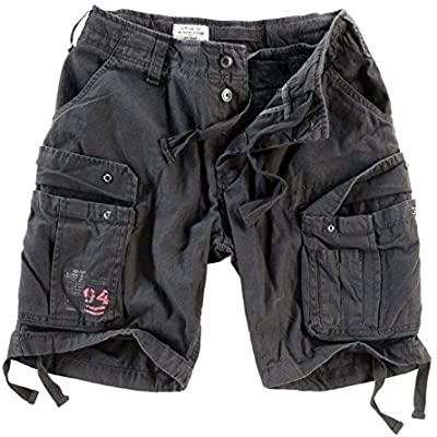 Surplus Hombres Airborne Vintage Pantalones Cortos Lavado Oliva