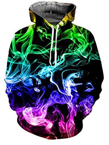Fanient Teens Männer Frauen Hoodie Bunte 3D Print Langarm Pullover Sweatshirts (Teen Gruppe Kostüm)