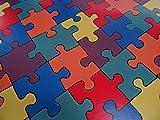 PVC in Puzzle-Optik, bunt - von Alpha-Tex 9.95€/m² (Länge: 500 cm, Breite: 400cm)