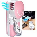 QUMOX Kleiner Lüfter & Mini-Klimaanlage: Handlicher Kühler Ultra Geschwindigkeit in rosa. Tragbar und praktisch. Läuft auf Batterien oder USB. Kühlt Luft bis zu 30F