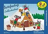 Fischer Fensterbild LEBKUCHENHAUS / Bastelpackung / ca. 62x42 cm / zum Selberbasteln / Basteln mit Papier und Pappe für Weihnachten